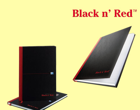 See Deal Black n Red (A4) 90g/m2 192 Pages Ruled Casebound Notebook (Pack of 5) 100080446