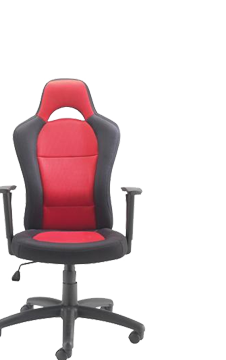 See Deal Jemini Soho Racer Chair Black/Red Pack of 1 KF74494