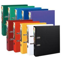 Cheap Stationery Supply of Exacompta Premtouch (A4) Lever Arch File 2 O-Ring 600-Sheets Polypropylene Assorted (Pack 10) 53374E Office Statationery