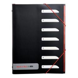 Cheap Stationery Supply of Black n Red by Elba 7 Part Polypropylene Sorter with Tabs Price Offer January - March 2015 400051534-XX200 Office Statationery
