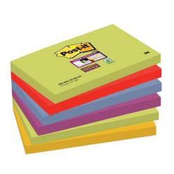 Cheap Stationery Supply of 3M Post-It Super Sticky Colour Note Pads (76mm x 127mm) Marrakesh (1 Pack of 6 Pads, 90 Sheets Per Pad) Offer: Buy 3 Packs for the Price of 2 (January - March 2015) 655-6SS-MAR-EU-XX200 Office Statationery