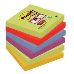 Cheap Stationery Supply of 3M Post-It Super Sticky Colour Note Pads (76mm x 76mm) Marrakesh (1 Pack of 6 Pads, 90 Sheets Per Pad) Offer: Buy 3 Packs for the Price of 2 (January - March 2015) 654-6SS-MAR-EU-XX200 Office Statationery