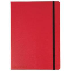 Cheap Stationery Supply of Black n Red (A5) 90g/m2 144 Numbered Pages Soft Cover Casebound Journal Notebook (Red) Price - Offer January - March 2015 400051201-XX200 Office Statationery