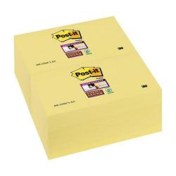 Cheap Stationery Supply of 3M Post-it Super Sticky Removable Notes Pad Canary Yellow (12 x 90 Sheets) + FREE Sticky Notes (Apr-Jun 2015) 655-12SSCY-XX200 Office Statationery