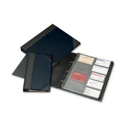 Cheap Stationery Supply of Goldline De Luxe Business Card Binder PVC A-Z Index 180 Pockets A4 (Blue and Black) DBCB9/BLUZ Office Statationery