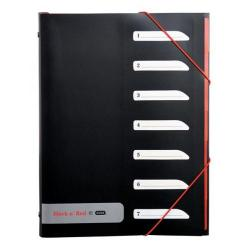 Cheap Stationery Supply of Black n Red By Elba 7-Part Sorter Folder with Tabs and Polypropylene Covered (Black) OFFER 2 for 1 Jun 1 2015 400021024-XX200 Office Statationery
