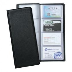 Cheap Stationery Supply of 5 Star Office Classic Business Card Book PVC 64 Pockets for 128 Cards 278x120mm Black Office Statationery