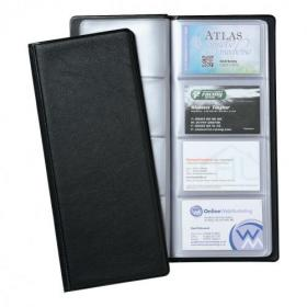 5 Star Office Classic Business Card Book PVC 64 Pockets for 128 Cards 278x120mm Black