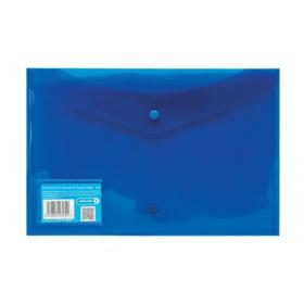 Concord Stud Wallet File Translucent Polypropylene Foolscap Blue Ref 6130-PFL (BLU) Pack of 5