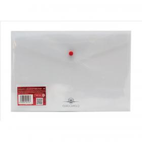 Concord Stud Wallet File Translucent Polypropylene Foolscap Clear Ref 6128-PFL (CLR) Pack of 5