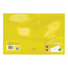 Concord Stud Wallet File Translucent Polypropylene Foolscap Yellow Ref 7086-PFL Pack of 5