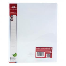 Concord Clamp Binder Polypropylene 75 micron 100 Sheet Capacity A4 Clear Ref 7103-PFL Pack of 10