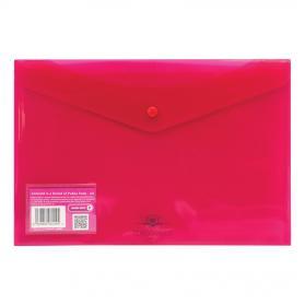 Concord Stud Wallet File Vibrant Polypropylene Foolscap Pink Ref 6129-PFL (PNK) Pack of 5
