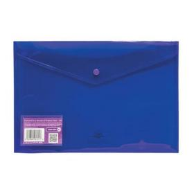 Concord Stud Wallet File Vibrant Polypropylene Foolscap Purple Ref 6131-PFL (PUR) Pack of 5