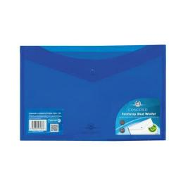 Cheap Stationery Supply of Concord Stud Wallet File Vibrant Polypropylene Foolscap Blue 7087-PFL Pack of 5 Office Statationery