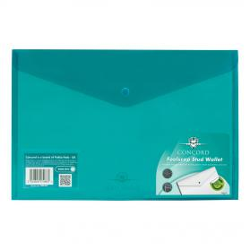 Concord Stud Wallet File Vibrant Polypropylene Foolscap Green Ref 7088-PFL Pack of 5