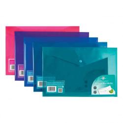 Cheap Stationery Supply of Concord Stud Wallet File Vibrant Polypropylene Foolscap Assorted 7089-PFL Pack of 5 Office Statationery