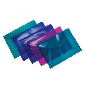 Concord Stud Wallet File Vibrant Polypropylene A5 Assorted Ref 7090-PFL Pack of 5
