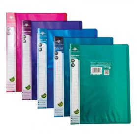 Concord Display Book Polypropylene 10 Pockets A4 Assorted Ref 7140-PFL Pack of 10