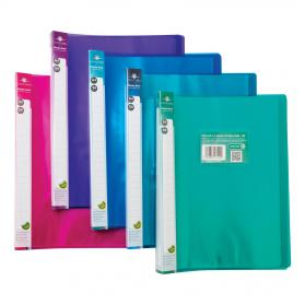 Concord Display Book Polypropylene 24 Pockets A4 Assorted Ref 7142-PFL Pack of 10
