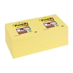 Cheap Stationery Supply of 3M Post-It Super Sticky (76mm x 76mm) Repositionable Note Pad Canary Yellow (12 x 90 Sheets) + FREE Magazine Subscription (Jul-Sep 2015) 654-12SSCY-XX600 Office Statationery