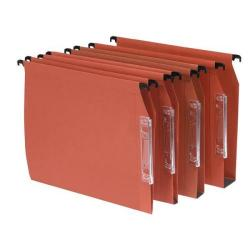 Cheap Stationery Supply of Bantex Linking Lateral File Kraft 50mm Wide-base 210gsm Foolscap Orange 100330745 Pack of 25 Office Statationery