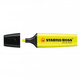 Stabilo Boss Highlighters Chisel Tip 2-5mm Line Yellow Ref 70/24/10 Pack of 10
