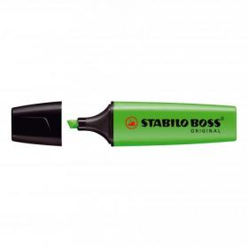 Stabilo Boss Highlighters Chisel Tip 2-5mm Line Green Ref 70/33/10 Pack of 10