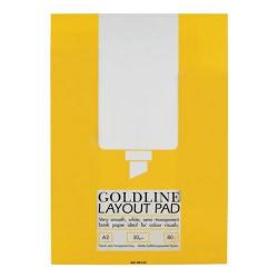Cheap Stationery Supply of Goldline (A2) Layout Pad Bank Paper 50g/m2 80 Pages (3 For 2) October - December GPL1A2Z-XX701 Office Statationery