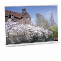 Cheap Stationery Supply of Stand Up Sign Holder Double Sided Landscape A4 Clear Office Statationery