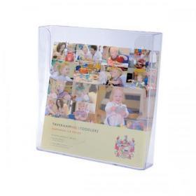 Flatback Literature Holder Wall Mounted Single Pocket Portrait A4 Clear