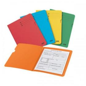 Elba Foolscap Square Cut Folder Recycled Mediumweight 285gsm Manilla Assorted Ref 100090142 Pack of 25