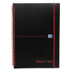 Cheap Stationery Supply of Black n Red (A5) 90g/m2 140 Pages Ruled Polypropylene Covered Wirebound Notebook (Pack of 5) - Offer 2 for 1 (Jan-Mar 2016) 100080140-XX801 Office Statationery