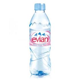 Evian Natural Mineral Water Still Bottle Plastic 500ml Ref 01210 Pack of 24
