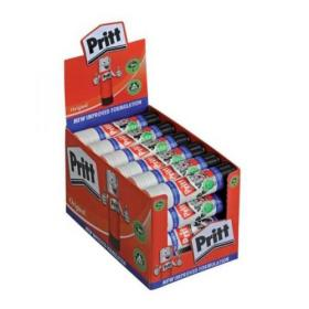 Pritt Stick Glue Solid Washable Non-toxic Large 43gm Ref 1564148 Pack of 24