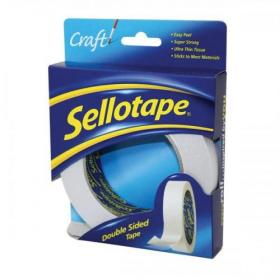 Sellotape Double Sided Tape 25mm x 33m Ref 1447052 Pack of 6