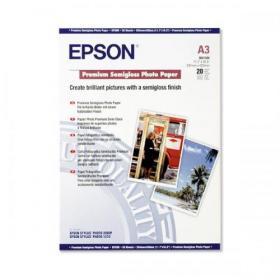 Epson Premium Photo Paper Semi-gloss 251gsm A3 Ref C13S041334 20 Sheets