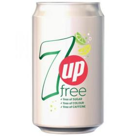 7UP Free Lemon and Lime Soft Drink Can 330ml Ref 203389 Pack of 24