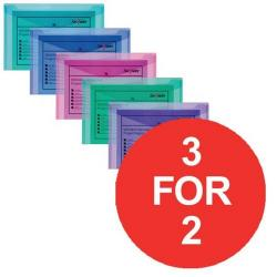 Cheap Stationery Supply of Snopake Polyfile (Foolscap) Electra Polypropylene Wallet (Assorted Colours) 1 x Pack of 5 Wallets (3 For 2) July - September 2016 10088-XX11 Office Statationery