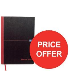 Cheap Stationery Supply of Black n Red (A5) 90g/m2 192 Pages Recycled Ruled Hard Back Casebound Notebook (Pack of 5) - Offer Price - Offer (Jul-Sep 2016) 100080430-XX904 Office Statationery