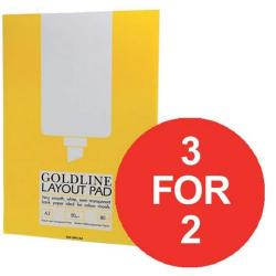 Cheap Stationery Supply of Goldline (A3) Layout Pad Bank Paper 50g/m2 80 Pages Pack of 5 (3 For 2) July - September 2016 GPL1A3Z-XX904 Office Statationery