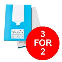 Cheap Stationery Supply of Goldline (A4) Popular Tracing Pad 63gsm 50 Sheets Pack of 5 (3 For 2) July - September 2016 GPT2A4Z-XX904 Office Statationery