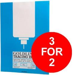 Cheap Stationery Supply of Goldline (A3) Popular Tracing Pad 63g/m2 50 Sheets Pack of 5 (3 For 2) July - September 2016 GPT2A3Z-XX904 Office Statationery