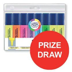 Cheap Stationery Supply of Staedtler Textsurfer Classic 364 (2.5 - 4.7mm) Highlighter Pens (Assorted Colours) 1 x Pack of 6 with 2 FREE (Assorted Colours) Highlighter Prize Draw July - September 2016 364AWP8-12345 Office Statationery