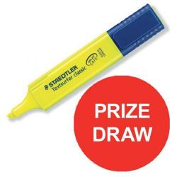 Cheap Stationery Supply of Staedtler Textsurfer Classic 364 (2.5 - 4.7mm) Highlighter Pens (Yellow) 1 x Pack of 10 Prize Draw July - September 2016 3641-12345 Office Statationery