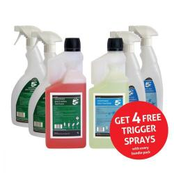 Cheap Stationery Supply of 5 Star Facilities Glass/Stainless Steel Cleaner & Odour Neutraliser 1 Litre FREE 750ml Trigger Bottles Office Statationery