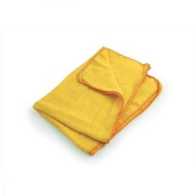 5 Star Facilities Yellow Dusters 100% Cotton 350x350mm Pack of 10
