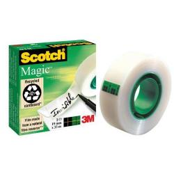 Cheap Stationery Supply of 3M Scotch Magic 810 (19mm x 33m) Invisible Tape Matte-finish (Clear) - Offer 3 for 2 (Oct-Dec 2015) 70005241826-XXX Office Statationery