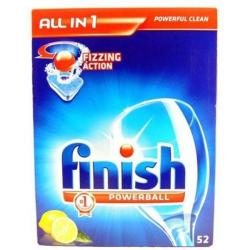 Cheap Stationery Supply of Finish All-In-1 Turbo Dishwasher Powerball Tablets (Lemon) 1 x Pack of 52 1002091-XX Office Statationery