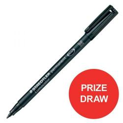 Cheap Stationery Supply of Staedtler Lumocolour 318 (0.6mm) Permanent Universal Pen (Black) 1 x Pack of 10 Competition Offer (January - December 2017) 318-9-12345XX Office Statationery